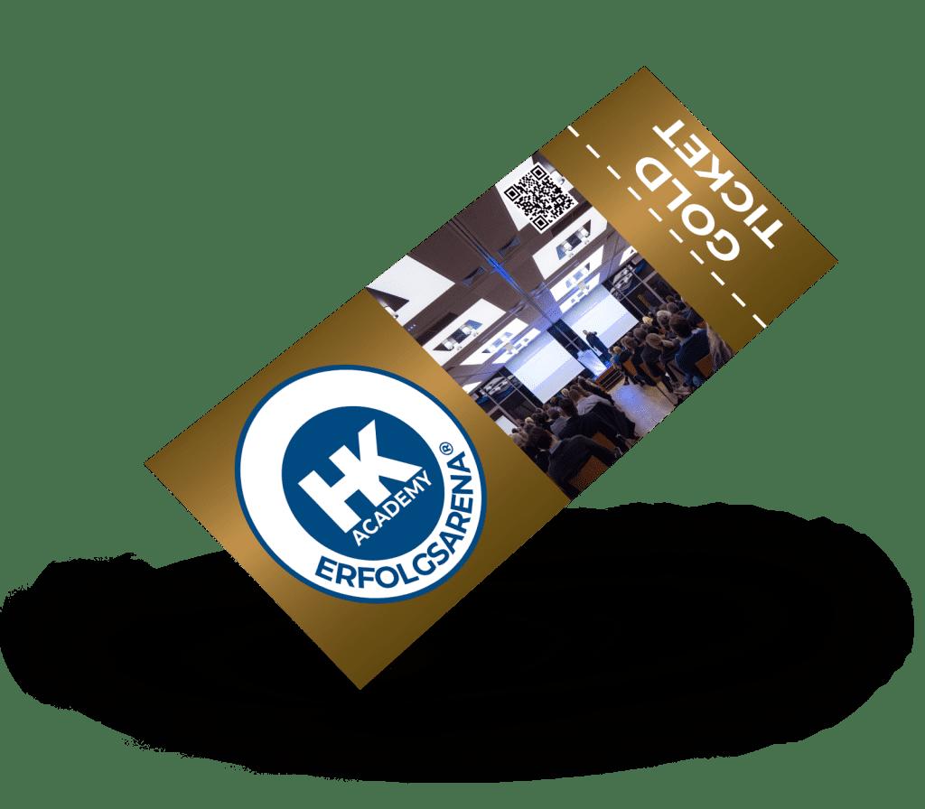 Gold-Ticket für das ERFOLGSARENA®-Seminar