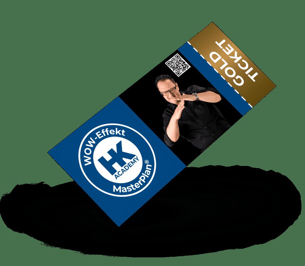 Gold-Ticket für das MasterPlan®-Seminar