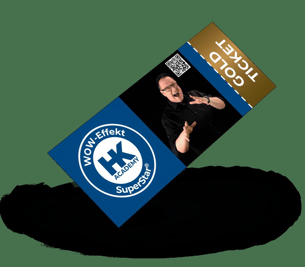 Gold-Ticket für das SuperStar®-Seminar