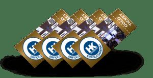 Gold-Tickets für das ERFOLGSARENA®-Seminar
