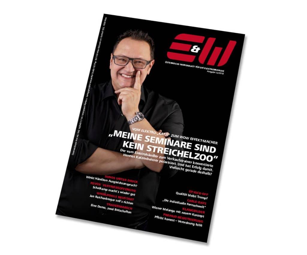 Hannes Katzenbeisser auf der Titelseite der Elektro & Wirtschaft
