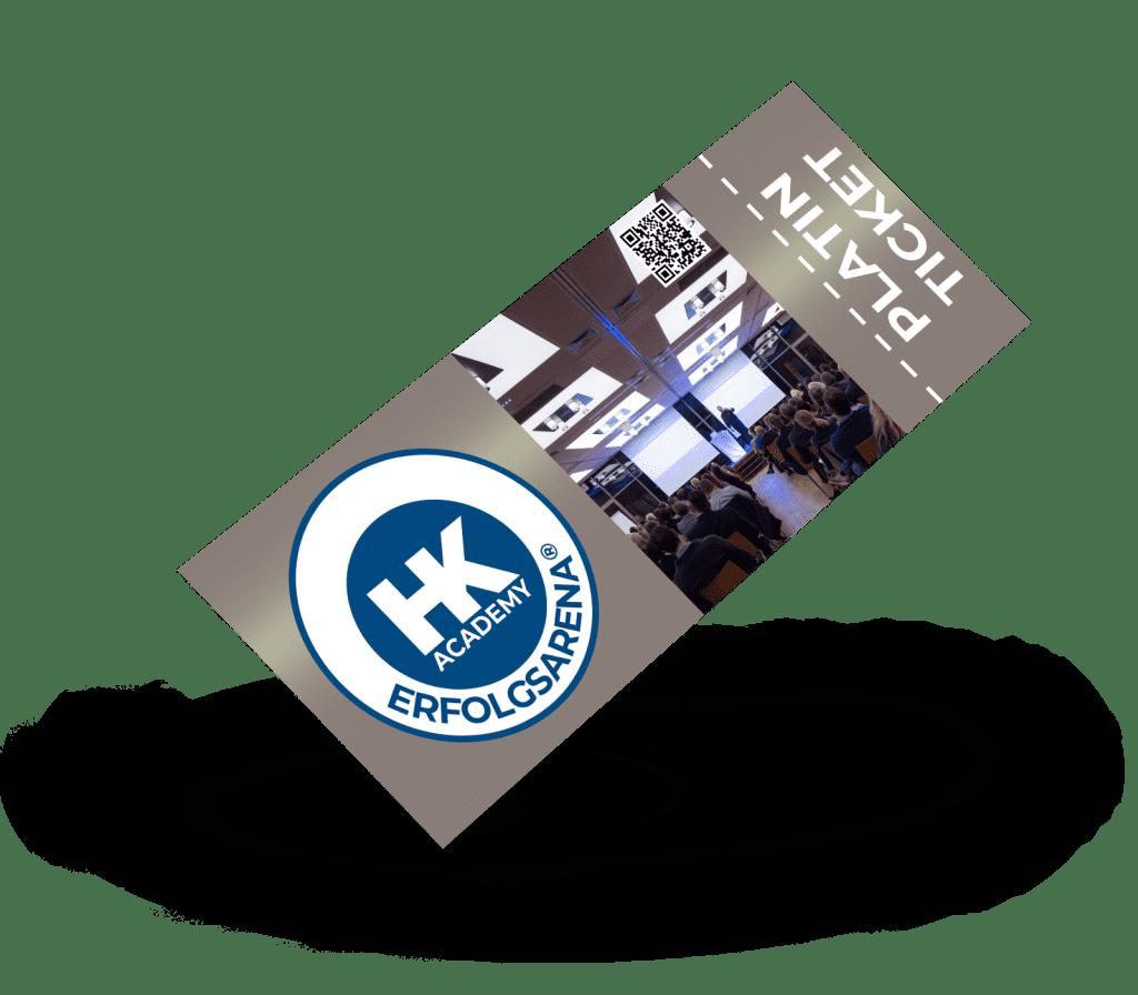 Platin-Ticket für das ERFOLGSARENA®-Seminar