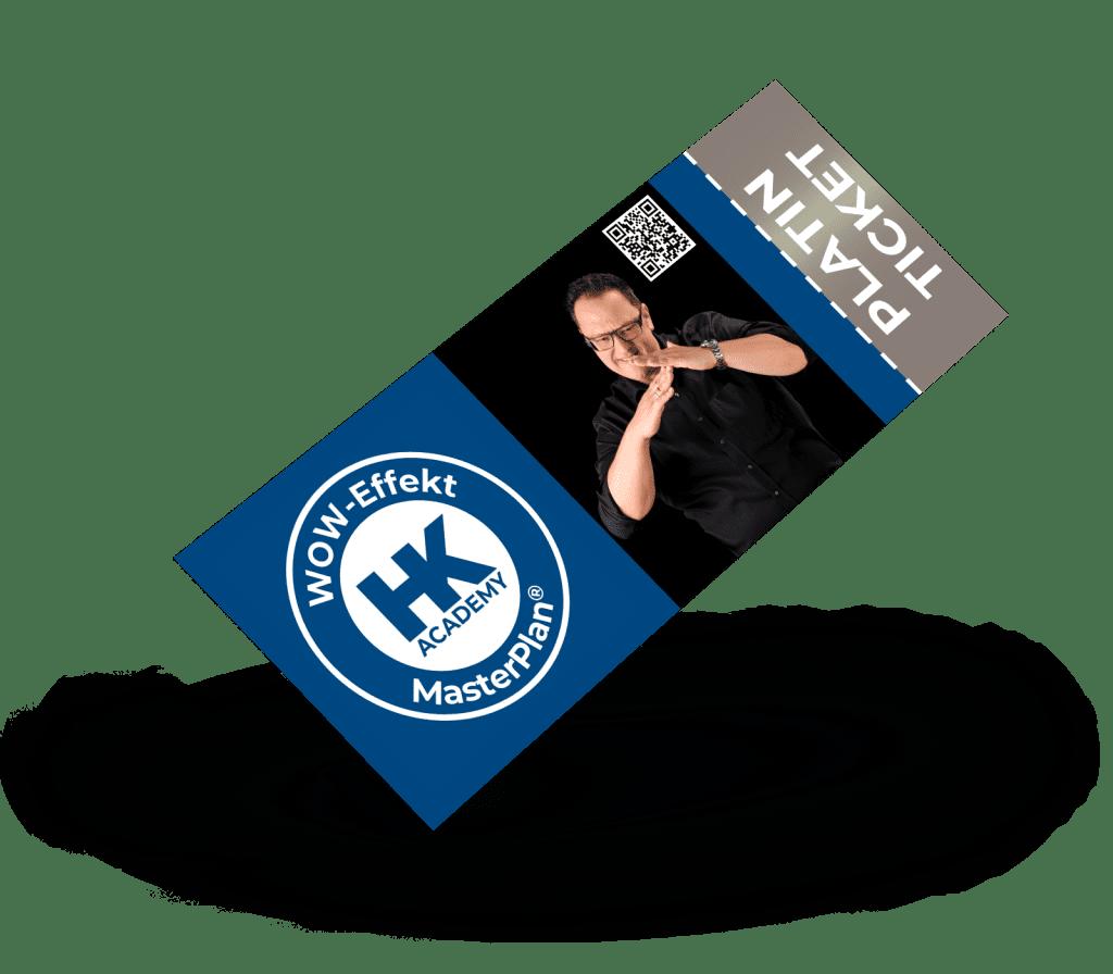 Platin-Ticket für das MasterPlan®-Seminar