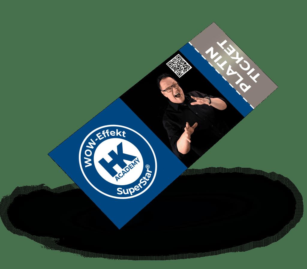 Platin-Ticket für das SuperStar®-Seminar