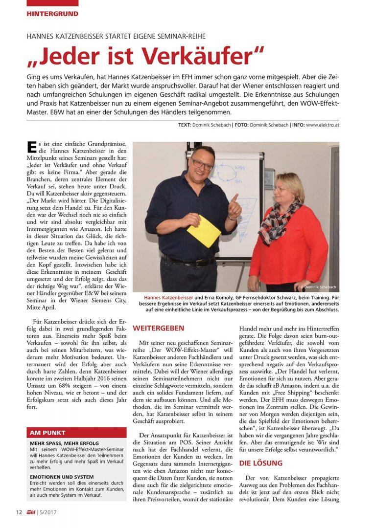 Presseartikel Elektro & Wirtschaft im Mai 2017