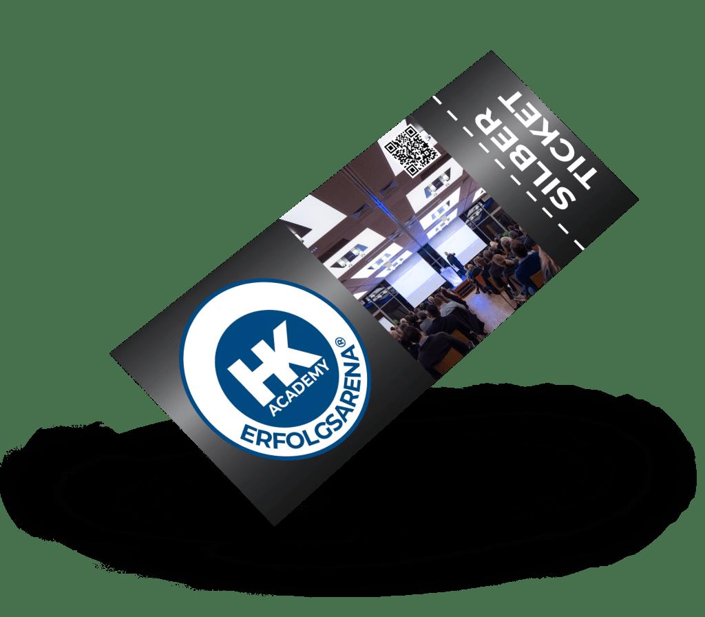 Silber-Ticket für das ERFOLGSARENA®-Seminar